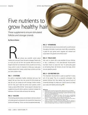 5 Nutrients to grow healthy hair pg 1